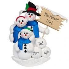 snowman family polymer clay ornament polymer clay ornaments