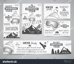set holiday identity templates christmas banner stock vector