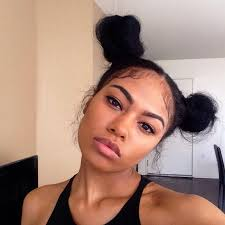 african american hairstyles trends and ideas side bun two ponytail buns google search hair pinterest ponytail