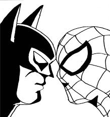 print spiderman batman face face coloring pages download