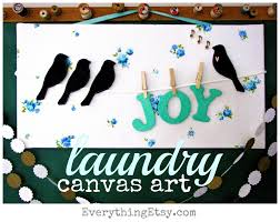 Diy Home Decore Laundry Canvas Art Diy Home Decor
