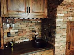 veneer kitchen backsplash kitchen kitchen with brick backsplash lovely reclaimed thin brick