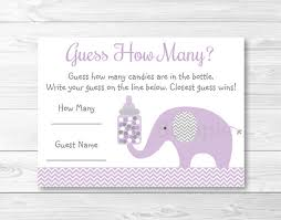 baby shower guessing elephant guess how many elephant baby shower chevron