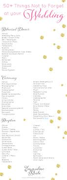 wedding checklist book wedding day checklist printable 50 things not to forget