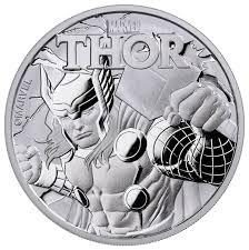 2018 tuvalu thor 1 oz silver marvel series 1 coin gem bu in its