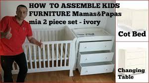 Orchard Sleigh Cot Toddler Bed White Kids Furniture Mamas U0026 Papas Mia 2 Piece Set Youtube