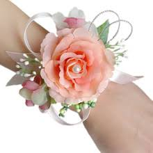 Wrist Corsages For Prom Popular Orange Corsage Buy Cheap Orange Corsage Lots From China