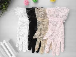 lace accessories hot women wedding bridal lace gloves accessories tulle