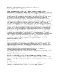 Payroll Specialist Resume Sample by Free Federal Resume Sample From Resume Prime