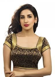designer blouses buy black and gold brocade designer blouse fabric