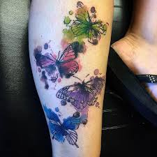 watercolor butterfly half sleeve today yeahtattoos com
