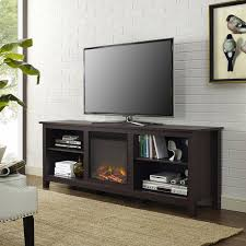 60 inch tv stand with electric fireplace walker edison wood tv stand with fireplace for tvs up to 70