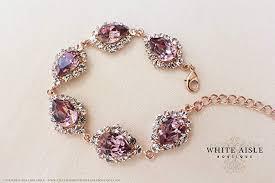 bracelet pendant images Antique pink rose gold bridal bracelet wedding jewelry jpg