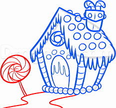 house drawing how to draw a gingerbread house step by step christmas stuff