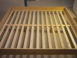 King Size Bed Frame Slats Template For Bed Slats To Go Beneath 12x2x16 Slats