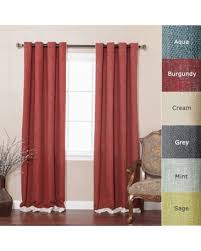 Brown Linen Curtains Deal Alert Best Home Fashion Bordered Heavyweight Textured Faux
