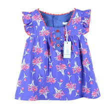 2017 new summer kids casual dress for girls with flower print baby
