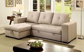 Denton Upholstery Denton Sectional Sofa Cm6149iv In Ivory Fabric W Sleeper