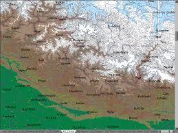 Himalayan Mountains Map Himalayas Map Google Images