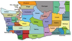 map of wa state washington county maps cities towns color