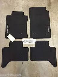 toyota tacoma floor mat 2005 2011 tacoma cab all weather rubber floor mats oem