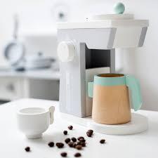 kaffeemaschine kinderküche concept kaffeemaschine weiß grau für diei kinderküche aus holz