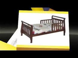 Sleigh Toddler Bed Davinci Sleigh Toddler Bed Ebony Cherry White Youtube