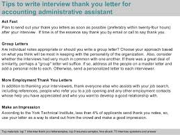 thank you letter after interview sample accounting