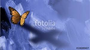graphic butterfly with shadow of cross of jesus stock photo and