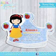 Invitation Card For Birthday Party Princess Aurora Party Invitations Princesses Sleeping Beauty Cut