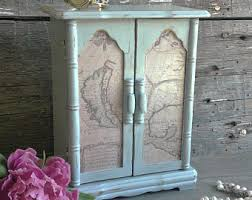 Shabby Chic Jewelry Display by Jewelry Box Armoire Etsy