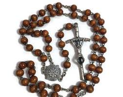 rosary supplies brown rosary etsy