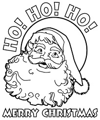 christmas santa coloring pages getcoloringpages