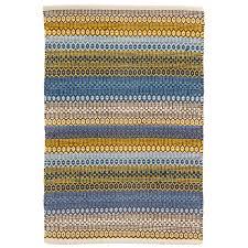Cotton Weave Rugs Gypsy Stripe Denim Yellow Woven Cotton Rug Dash U0026 Albert
