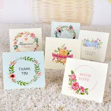blessing card 1 pcs pretty flower wreath folding message card with envelope