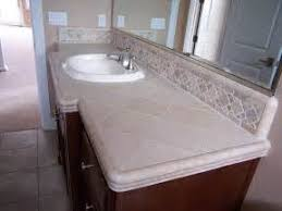 How To Tile A Bathroom Countertop - sink on white bathroom tile countertop ideas plus vanity many