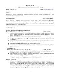 good marketing resume sample resume format for marketing profile how to write a marketing