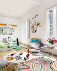 funky home decor ideas colorful apartment ideas from barcelona