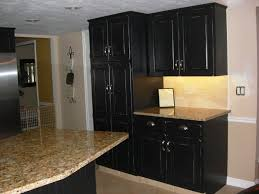 awesome painting kitchen cabinets black with granite countertop