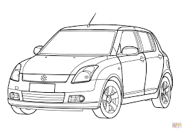 suzuki swift coloring page free printable coloring pages
