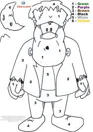 printable halloween coloring pages color number