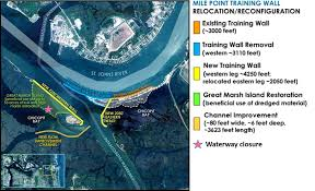 Intracoastal Waterway Map Mile Point Construction Moves Forward Marsh Waterways To Close