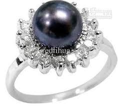 real pearl rings images Real natural black pearl ring size 7 11 pearl ring titanium jpg