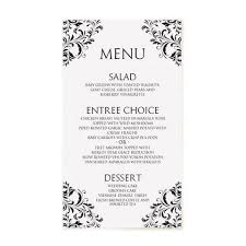wedding menu templates wedding menu templates 4x7