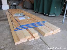 how to build a shelf for the garage wood 2x4 and osb particle board wood shelf material cost plans