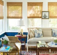 hexagonal side tables with beach home sunroom beach style and