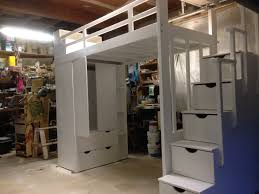 wardrobe loft bed with storage steps laval custom lofts u0026 bunk
