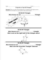 30 60 90 Triangles Worksheet Grotongeometry Homework