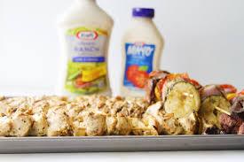 sriracha mayo kraft margarita u0027s on the rocks grilled cilantro u0026 ranch chicken kebobs