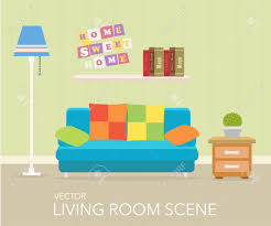 interior of a living room modern flat design illustration royalty interior of a living room modern flat design illustration stock vector 38721083